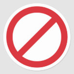 Símbolo de la prohibición Sign/No Pegatinas Redondas