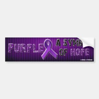 Símbolo de la púrpura A de la esperanza Pegatina Para Auto