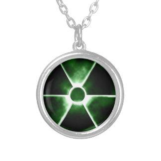 Símbolo de la radiación pendientes personalizados