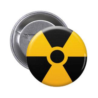 Símbolo de la radiación pin redondo de 2 pulgadas