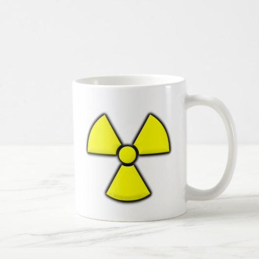 Símbolo de la radiación taza clásica
