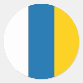 Símbolo de la región de España de la bandera de Pegatina Redonda