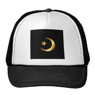 Símbolo de la religión del Islam Gorras