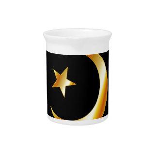 Símbolo de la religión del Islam Jarras De Beber