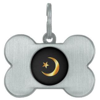 Símbolo de la religión del Islam Placas Mascota