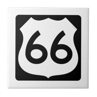 Símbolo de la ruta 66 azulejos cerámicos