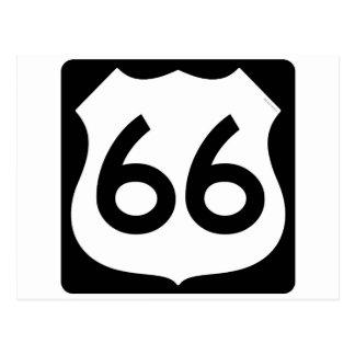 Símbolo de la ruta 66 postales