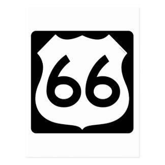 Símbolo de la ruta 66 tarjeta postal