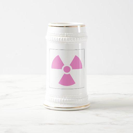 Símbolo de la señal de peligro del símbolo de la jarra de cerveza
