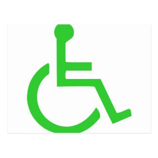 Símbolo de la silla de ruedas postales
