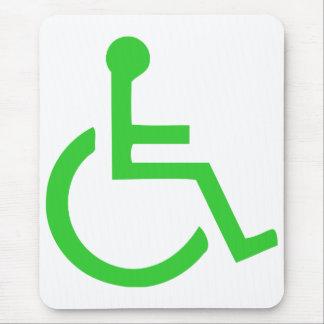 Símbolo de la silla de ruedas alfombrilla de raton