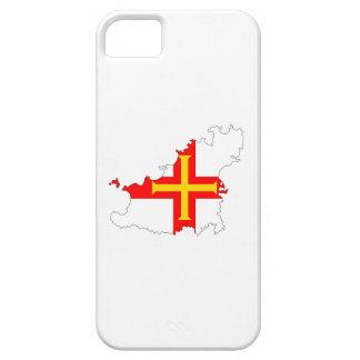 símbolo de la silueta de la forma del mapa de la funda para iPhone SE/5/5s