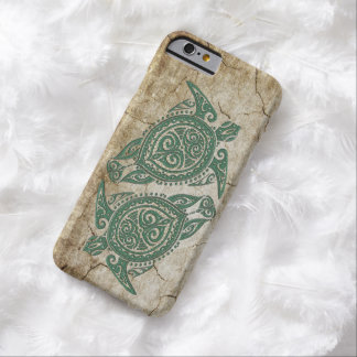Símbolo de la tortuga de mar de Shamanic + sus Funda Para iPhone 6 Barely There