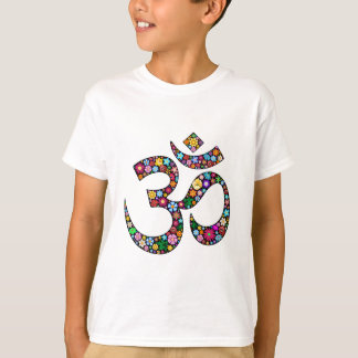 Símbolo de la yoga de OM Aum Namaste Playera