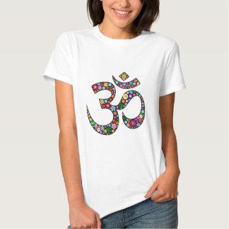 Símbolo de la yoga de OM Aum Namaste Polera