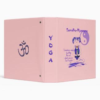 """Símbolo de la yoga Girl/Om+Cita Carpeta 1 1/2"""""""