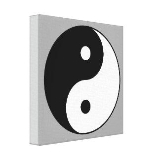 símbolo de la yoga lona envuelta para galerias