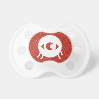 Símbolo de las bolas del ojo chupetes para bebes