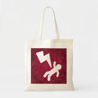 Símbolo de las electrocuciones bolsa tela barata