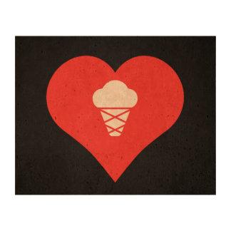 Símbolo de las fuentes de tienda del helado impresión en corcho