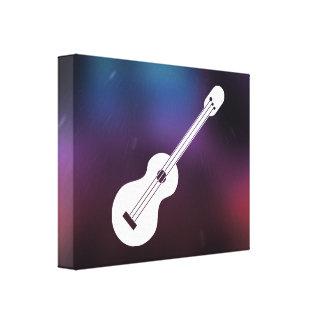 Símbolo de las guitarras de la ventaja impresiones en lienzo estiradas