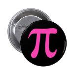 Símbolo de las rosas fuertes pi en el botón negro