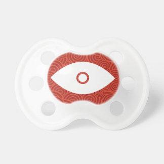 Símbolo de las tapas del ojo chupetes para bebés