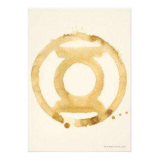 Símbolo de linterna del café invitaciones personales