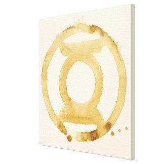 Símbolo de linterna del café impresión en lienzo estirada