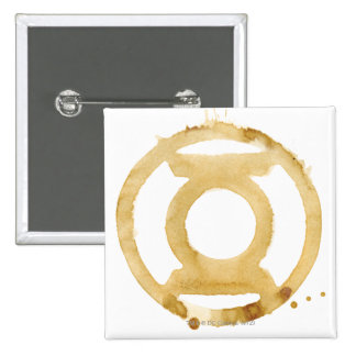 Símbolo de linterna del café pin cuadrada 5 cm