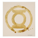 Símbolo de linterna del café poster