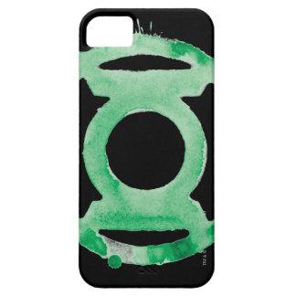 Símbolo de linterna del café - verde iPhone 5 carcasa
