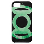 Símbolo de linterna del café - verde iPhone 5 cárcasa