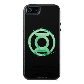 Símbolo de linterna del café - verde funda otterbox para iPhone 5/5s/SE