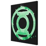 Símbolo de linterna del café - verde impresión en lienzo