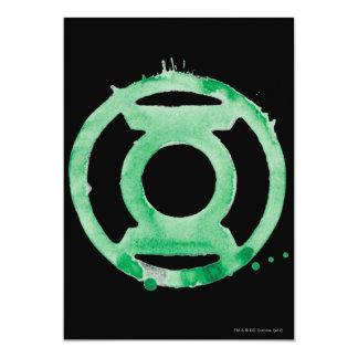 Símbolo de linterna del café - verde invitaciones personalizada