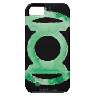 Símbolo de linterna del café - verde iPhone 5 funda