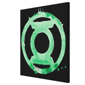 Símbolo de linterna del café - verde impresiones en lona