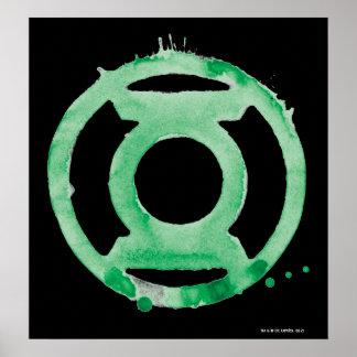 Símbolo de linterna del café - verde impresiones
