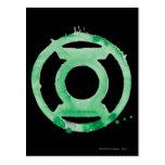 Símbolo de linterna del café - verde tarjetas postales