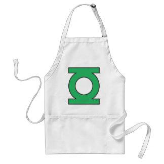 Símbolo de linterna verde delantal
