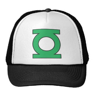 Símbolo de linterna verde gorras de camionero