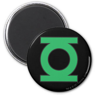 Símbolo de linterna verde imán redondo 5 cm