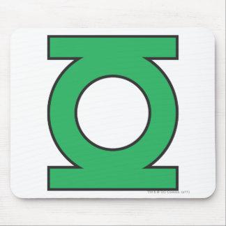 Símbolo de linterna verde tapete de ratón