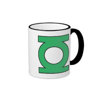 Símbolo de linterna verde taza de dos colores