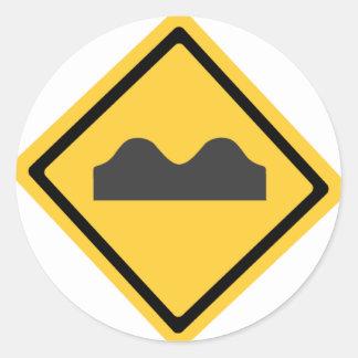 Símbolo de los badénes pegatina redonda
