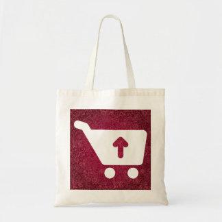 Símbolo de los comercios electrónicos bolsa tela barata
