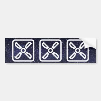 Símbolo de los extractores pegatina para auto