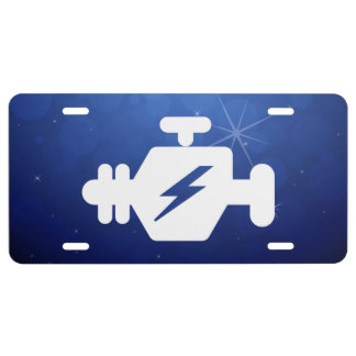 Símbolo de los generadores del motor placa de matrícula