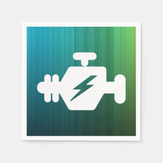Símbolo de los generadores del motor servilleta desechable
